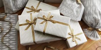 リボンを金色にするだけで不思議とクリスマスムードが漂います。