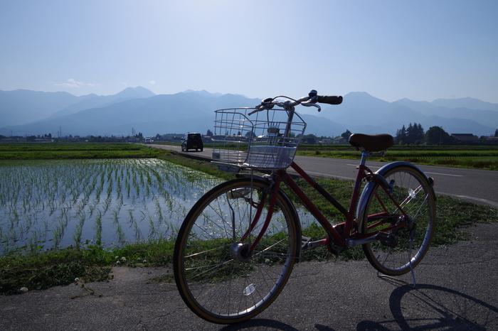 歩いても40分ほどの距離なので、春〜秋なら駅前で自転車を借りてサイクリングも良いかも。