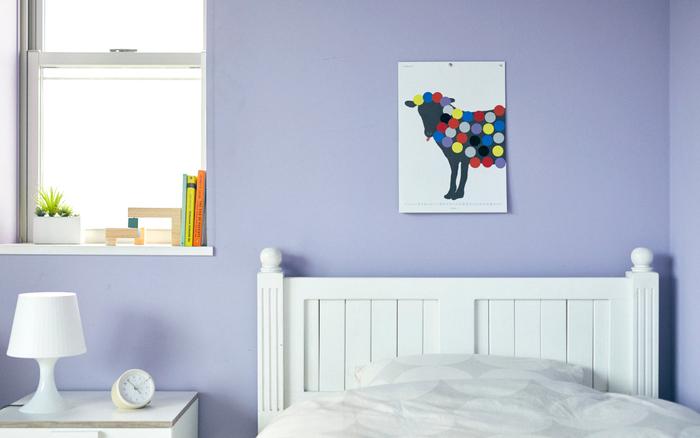 色や形が違うシールをどこに貼ろうかな、どんな仕上がりになるかな、と1日1日を過ごしていくのが楽しみになりますね。 子供部屋にもぴったりなデザインです。