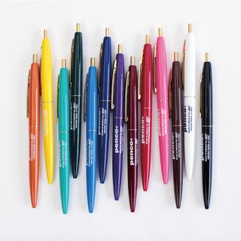 インクは黒色ですが、見ためがカラフルでとても可愛らしいボールペン。 鮮やかなカラーは見ているだけで楽しくなりますよね。