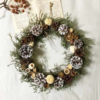 本来、クリスマスリースは魔除けと農作物の繁栄を意味するもの。