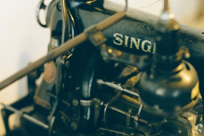 アメリカ製の「SINGER」ミシン