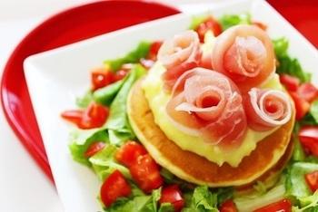パンケーキの上にトッピングすれば、特別感のある朝食になりますね。