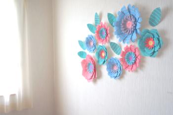 パーティーや子供部屋を飾りたい時には明るくて可愛らしいカラーを選ぶと良いですね。お部屋がとても明るくなります。