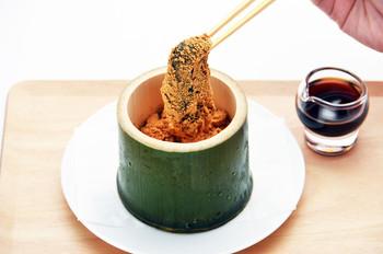 こちらも数量限定の『本わらび粉100%使用の本わらび餅』。南九州産の天然本わらび粉を100%使用し、職人により丁寧に練り上げられています。京都に行く方にはおすすめしたい美味しいスイーツです。