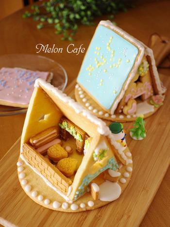 こちらのレシピは、なんとお菓子の家の「家具」までつくったこだわりのヘクセンハウス。みんなどんなおうちにしたいか、わいわい作る作業もきっとクリスマスの思い出になるはず。