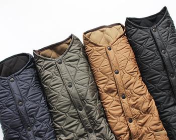 暖かくておしゃれな着こなしが楽しめる「キルティングコート」。でも、ダウンジャケットよりも軽い印象のはずなのに、どうもコーディネートが重くなりがちという方も多いのでは?