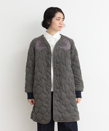 暖かくておしゃれ!「キルティングコート」をすっきり着こなす垢抜けコーデ集