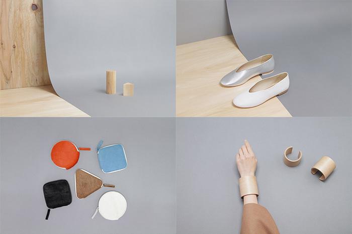 シューズのヒール部分を木製にしたり、バッグの底に木を取り入れたり…ユニークながらクリーンな印象を持つアイテムたちは、家具を専門とする職人が高い技術を注いで作成しているものばかりです。