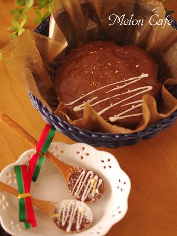 作り置きはもちろん、チョコレートでしっかりとコーティングされているので持ち歩きもできるガトー・オ・ショコラ。余ったデコレーション用のチョコレートで、スプーンチョコも作れちゃいます♪