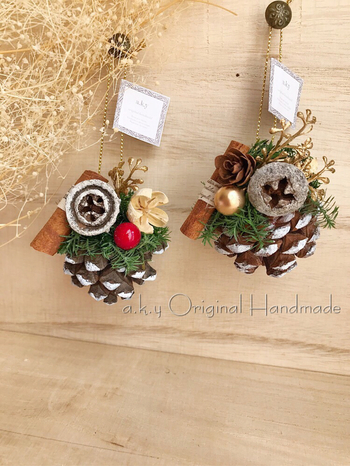 バッグの取っ手につけてプレゼントするだけで、クリスマスをさらに盛り上げてくれそう。そのままツリーやお部屋に飾れるので、思い出にも残りますね。