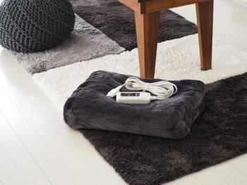 床に座ると底冷えを感じることもあります。ホットカーペットや電気毛布もあると良いですね。