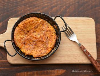 豆乳やシナモンで作るやさしい味わいのパンケーキ。 シナモンを強くし過ぎないのが美味しさの秘訣です。