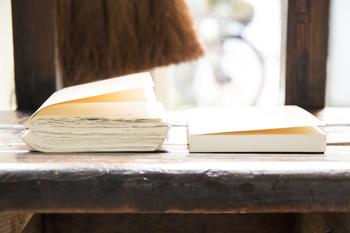 一年間使い続けた愛着のわいた手帳は、来年への道しるべにもなります。 「ああ、こんな風に頑張ってきたんだな・・・」とか、 「あれ?このやりたいことまだ達成できてないね」とか。