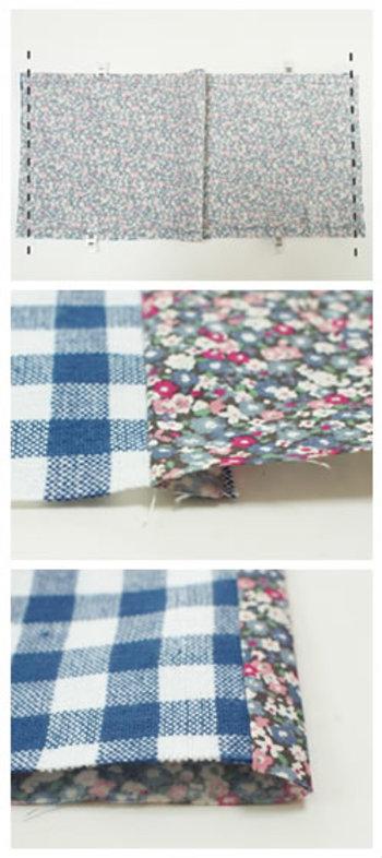 手帳のサイズに合わせて布をチョキチョキ・・・。手作りする時間もとっても楽しいですよ♪