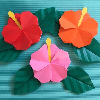 カラフルな花びらと、ピュンとでた花柱が特徴的です。お子様と一緒に作って、南国気分に浸ってみるのはいかがですか?