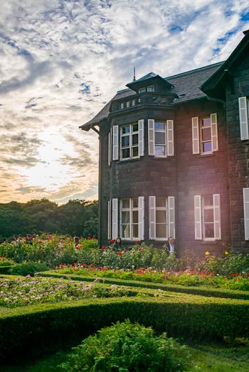 洋館とバラ園が美しい旧古河庭園は、財閥の別邸として建てられました。春バラと秋バラが咲き誇る西洋庭園と、心字池を中心とした和風庭園を楽しめます。