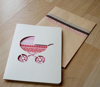 オリジナルのカード作りにもマスキングテープは大活躍。色違いで何枚も作りたくなりますね。