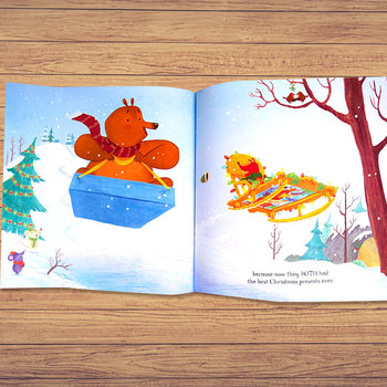 クマさんとなかよしのリスさんはクマさんにどんなプレゼントを用意していたのでしょう?心温まるクリスマスらしいお話は、簡単な英語でつづられているので、子供にもわかりやすいんですよ!