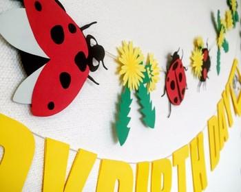 こちらはてんとう虫が飛びまわり春を感じさせるバナー。お子さんが喜びそうです。