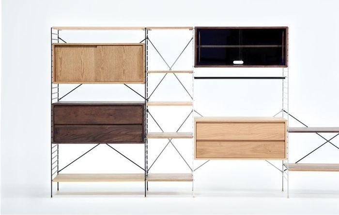 様々なパーツを組み合わせて思い通りの収納家具をカスタマイズすることができるから、どんなライフスタイルにも対応することができます。細かな収納、見せる収納など思い描いた暮らしを助けてくれますよ。