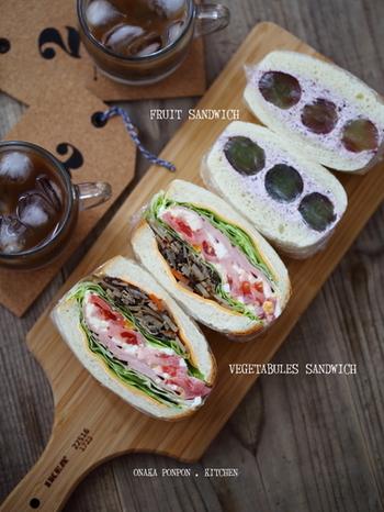 カッティングボードの上に並べてもおしゃれ。 野菜たっぷりのサンドイッチに添えて、ランチのデザート感覚で。