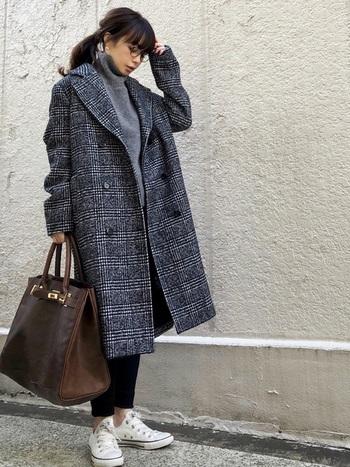 トレンドのビッグシルエットのコートもGUなら気軽に買えるのが嬉しいですね☆