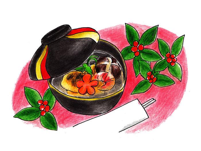 """お雑煮は具材こそ各家庭で違うものの、地域によっての大きな違いは「味付け」ではないでしょうか。 北から「くるみだれ」や「すまし汁」「みそ仕立て」、さらには""""おしるこ""""のような「小豆汁」まであるんですよ。ここからは、いくつかの地域のお雑煮レシピをご紹介したいと思います♪"""