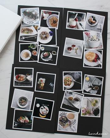 紙もので残すと量もかさばるレシピの切り抜きやお子さまの絵なども、写真にして残せば整理しやすいですよ。お気に入りの写真をピックアップして、ディスプレイとして飾っても◎