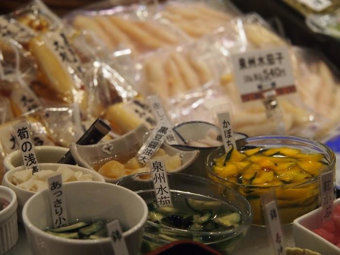 【「枡悟」の旬の野菜を漬け込んだ「京漬物」】