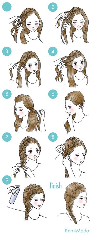 ニット帽にかぶる場合は、基本的に低めの位置でのアレンジがおすすめですが、髪の崩れがどうしても気になる…という方は、トップからしっかり編み込む方法でも◎