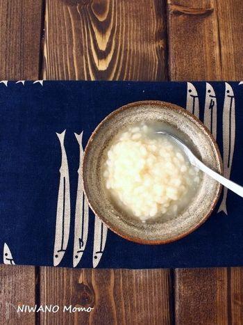 塩のかわりに塩麹を加えると、また違った味わいに。塩麹には甘みもあるので、甘味は足さなくても大丈夫です。
