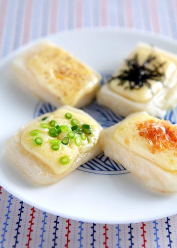 お餅とチーズのダブルもちもち♡フライパンひとつで簡単にできちゃいますよ。