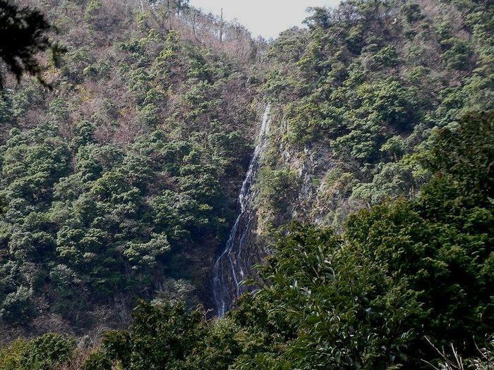 布引の滝は丹後半島最大の滝で、落差100メートルを誇ります。雨量によっては滝が見えないこともあり、「幻の滝」とも呼ばれています。
