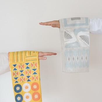 今回の展示会では、十布の福袋も数量限定で販売されます。十布の商品をオリジナルの風呂敷でつつんでいます。福袋の販売は展示会の後半、1月6日からとなります。