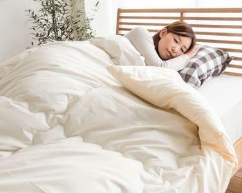 こちらはアルミ繊維を蒸着させた繊維を用いることで綿メインながら驚きの暖かさを実現したお布団。比較的綿ぼこりが少なく、防ダニ性能もあり、ストレスフリーで眠りにつけそう。