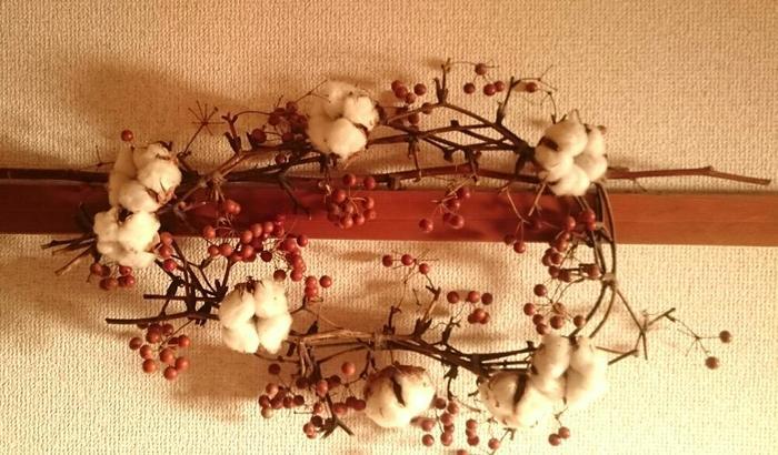 ドライフラワーのアレンジの中に、白くふわふわとした不思議な花材があるのを見たことはありませんか?これは綿花(コットンフラワー)といって、私たちが着ている衣服の材料「綿」の素材になっている植物の実です。 ふんわりとした実のなる姿が可愛らしいので、枝ごと飾られたり、リースやアレンジの花材にされたりとインテリアアイテムとして活躍しています。もちろん綿を丁寧にほぐし、糸に加工することで布地を織ることも。 今回は、そんなとっても身近な植物「綿の木」の植物としての特徴や楽しみ方をまとめてみました。