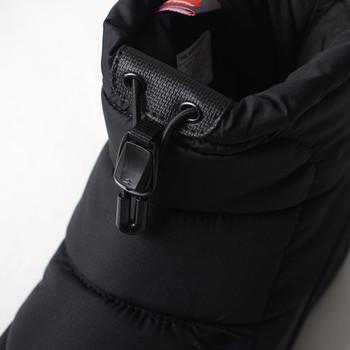 履き口にはドローコードロッカーを装備。きゅっと絞ればより雨や雪を防ぎ、足元の暖かさを逃しにくくしてくれます。
