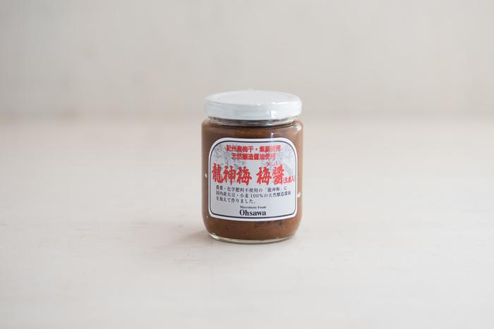 農薬不使用で丁寧に作られた龍神梅の梅醬。