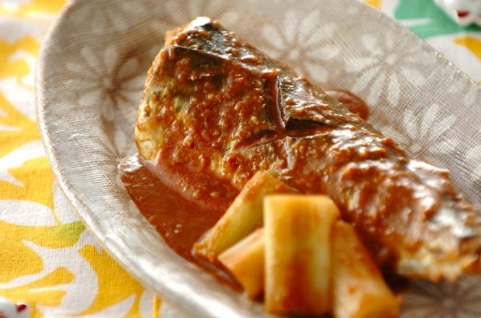 プレーンヨーグルトとみりんを混ぜた煮汁で臭みを消してさっぱりと煮付けたサバに、味噌とチョコレートで深いコクをプラス。和の食材に洋風の素材を合わせると、また一味違った美味しさを知ることができます。