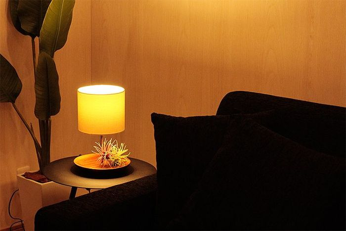 ソファ横のサイドテーブルやちょっとしたスペースにはテーブルランプを置いてみてはいかがでしょうか。お部屋全体を少し暗めにしても、必要なところだけ明るくすることができますよ♪
