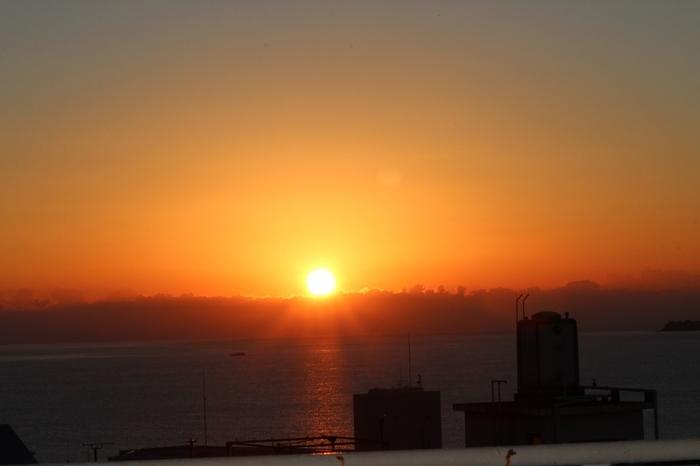 お天気がよければ素晴らしい朝日を見ることもできますよ。