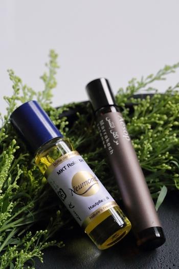 Aesopの香りはヒュイル、マラケッシュ、タシットの3種類。どれも不変的でちょっぴりスパイシー。自然と馴染むナチュラルさを持っています。
