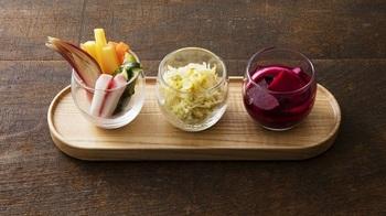 """""""私のカラダが喜ぶ、菌のある生活""""がコンセプトで、日本で古くから親しまれてきた「発酵食」がいただけます。"""