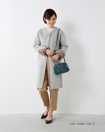 エコファーは今季流行の注目アイテム。身に着けるだけで一気にトレンド感あるスタイルになります。