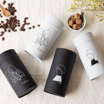 ちなみにコーヒー専用の保存缶には、こんなに可愛らしいデザインのものも。並べておくだけでもインテリアになりそうです。