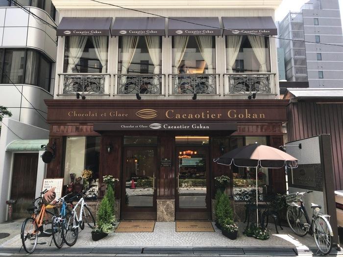 関西を代表するパティスリー五感が手掛ける「Cacaotier Gokan」。北浜にある「五感」さん同様、こちらのお店もアンティーク調の洗練された、サロンと言う言葉がぴったりな大人な雰囲気のお店です。