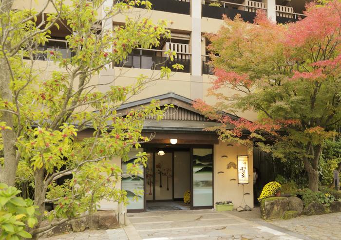 数ある温泉宿の中でも「箱根強羅温泉 季の湯 雪月花」は建物が大きく、3つの貸切風呂もあるので、のんびりお風呂を楽しめますよ。強羅駅からは、徒歩1分とアクセスもしやすくておすすめです。