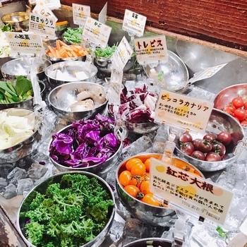 色鮮やかな野菜は、新鮮なものばかり。甘み・苦味・辛みなど野菜それぞれの味をしっかりと味わえて、身体の中からキレイになれそう。野菜だけでおなかが満足できるランチというのも良いですよね。