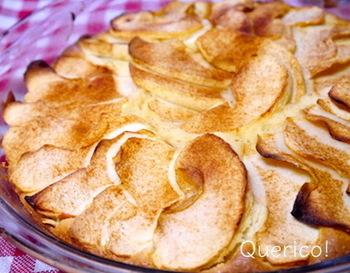 米粉を使ってさっくりしっとりのこちら。きび砂糖なども加えて体にも嬉しいレシピです。りんごの甘さがたっぷり!